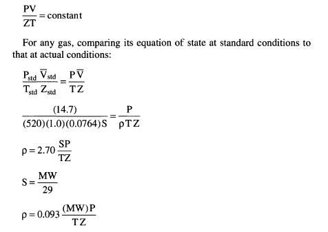 Specific Gravity Natural Gas Calculation